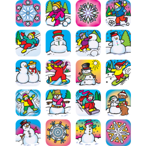 TCR1804 Winter Stickers Image