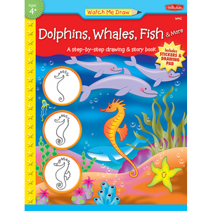 TCR18910 Watch Me Draw: Dolphins, Whales, Fish & More Image