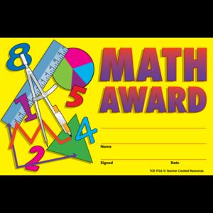 TCR1926 Math Awards Image