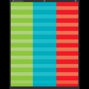 TCR20324 3-Column Pocket Chart Image