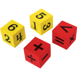 TCR20607 Foam Numbers & Operations Dice Image