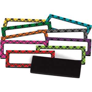 TCR20622 Plaid Magnetic Labels Image