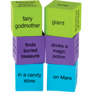 TCR20641 Foam Story Starter Cubes Image