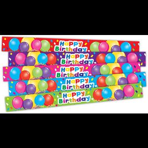 TCR20666 Happy Birthday Balloons Slap Bracelets Image