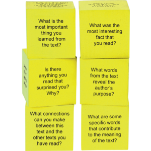 TCR20703 Foam Nonfiction Comprehension Cubes Image