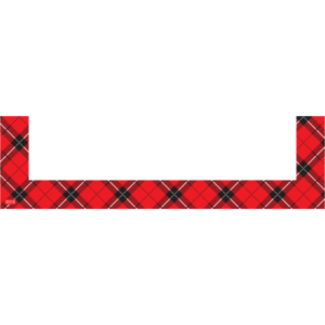 TCR20732 Red Plaid Magnetic Pockets - Small Image