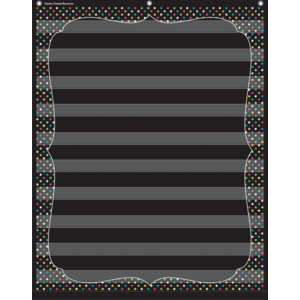 TCR20746 Chalkboard Brights 10 Pocket Chart Image