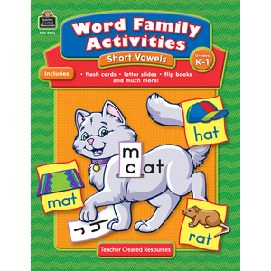 TCR2076 Word Family Activities: Short Vowels Grade K-1 Image