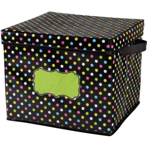 TCR20766 Chalkboard Brights Storage Box Image