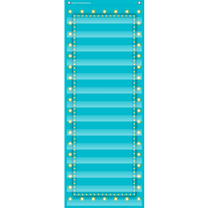 TCR20773 Light Blue Marquee 14 Pocket Chart Image