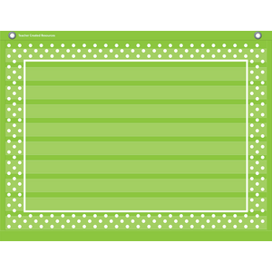 TCR20777 Lime Polka Dots Mini Pocket Chart Image
