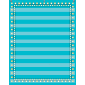 TCR20778 Light Blue Marquee 10 Pocket Chart Image