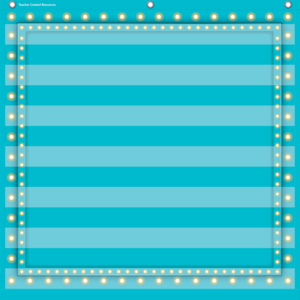TCR20780 Light Blue Marquee 7 Pocket Chart Image