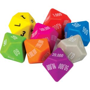 TCR20807 Place Value Dice 8-Pack Image