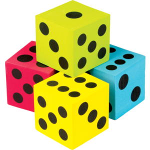 TCR20810 Colorful Jumbo Dice 4-Pack Image