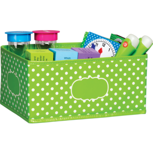 TCR20818 Lime Polka Dots Small Storage Bin Image