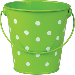 TCR20824 Lime Polka Dots Bucket Image