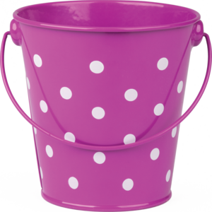 TCR20826 Purple Polka Dots Bucket Image