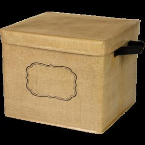 TCR20834 Burlap Storage Box Image