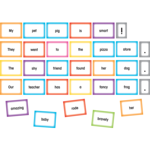 TCR20849 Silly Sentences Pocket Chart Cards Image