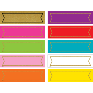 TCR20869 Colorful Gold Shimmer Labels Image