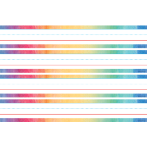 TCR20874 Watercolor Sentence Strips Image