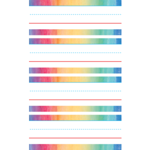 TCR20876 Watercolor Word Strips Image