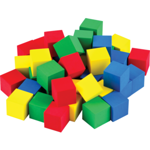 "TCR20938 STEM Basics: Multicolor 3/4"" Foam Cubes - 40 Count Image"