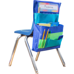 TCR20970 Blue, Teal & Lime Chair Pocket Image