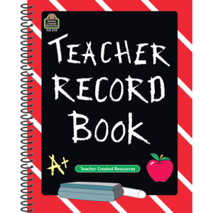 TCR2119 Chalkboard Teacher Record Book Image