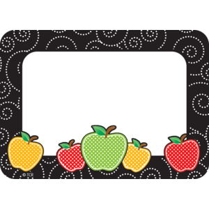 TCR2143 Dotty Apples Name Tags/Labels Image