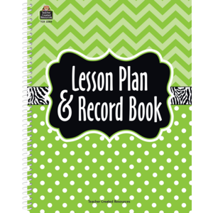 TCR2384 Lime Chevrons and Dots Lesson Plan & Record Book Image