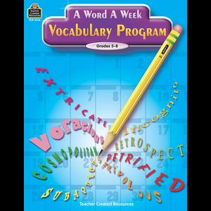 TCR2516 A Word A Week Vocabulary Program Image