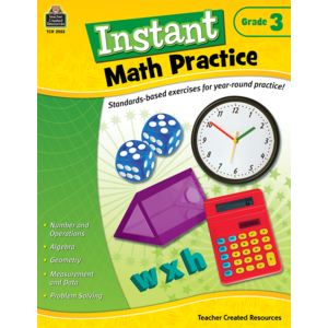 TCR2553 Instant Math Practice Grade 3 Image