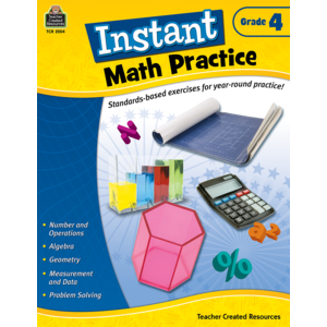 TCR2554 Instant Math Practice Grade 4 Image
