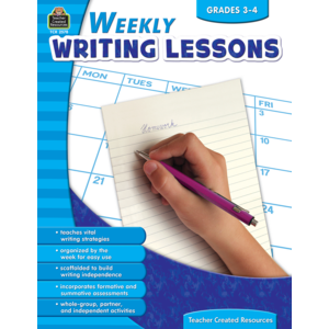 TCR2578 Weekly Writing Lessons Grades 3-4 Image