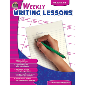 TCR2635 Weekly Writing Lessons Grades 5-6 Image
