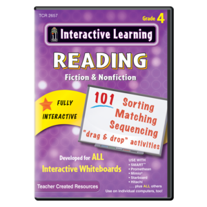 TCR2657 Interactive Learning: Reading Fiction & Nonfiction Grade 4 Image
