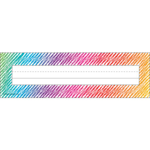 TCR2690 Colorful Scribble Flat Name Plates Image