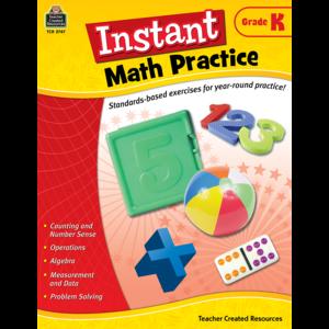 TCR2747 Instant Math Practice Grade K Image