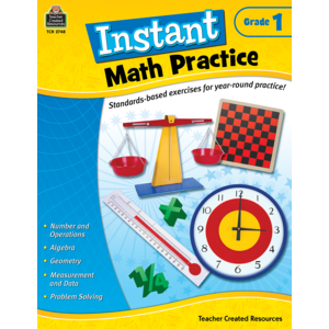 TCR2748 Instant Math Practice Grade 1 Image