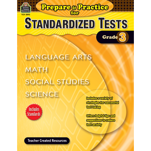 TCR2893 Prepare & Practice for Standardized Tests Grade 3 Image