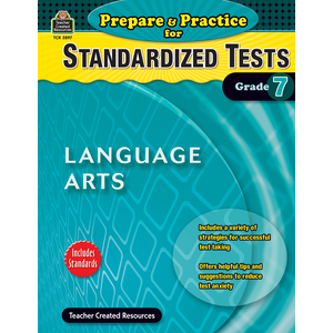 TCR2897 Prepare & Practice for Standardized Tests: Lang Arts Grade 7 Image