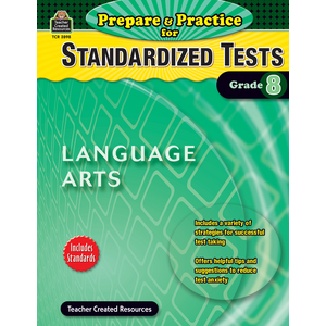 TCR2898 Prepare & Practice for Standardized Tests: Lang Arts Grade 8 Image