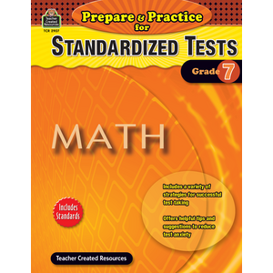 TCR2907 Prepare & Practice for Standardized Tests: Math Grade 7 Image
