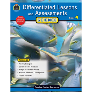 TCR2924 Differentiated Lessons & Assessments: Science Grade 4 Image