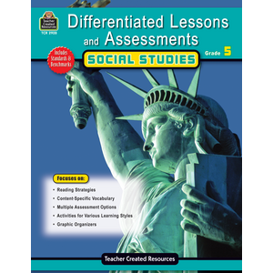 TCR2928 Differentiated Lessons & Assessments: Social Studies Grade 5 Image