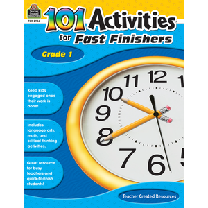TCR2936 101 Activities For Fast Finishers Grade 1 Image