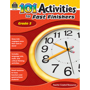 TCR2937 101 Activities For Fast Finishers Grade 2 Image