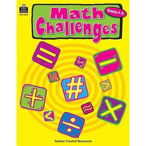 TCR2964 Math Challenges, Grades 4-6 Image